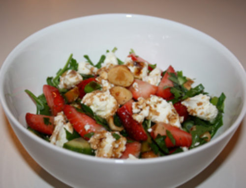 Strawberry, Goat's Cheese and Macadamia Salad